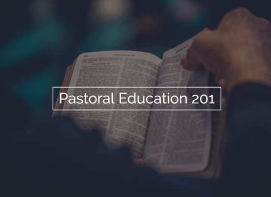 Pastoral Education 201